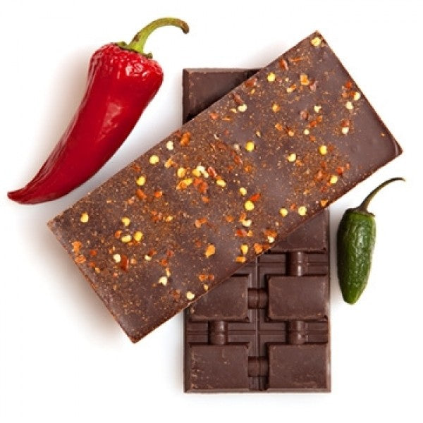 3 Single Origin Dark Chocolate Bars With Chili Spices