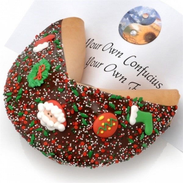 Christmas Milk Chocolate Giant Fortune Cookie