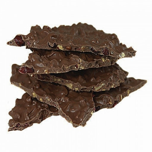2lb Pecan Orange Cranberry Chocolate Bark Gift Box - Chocolate.org