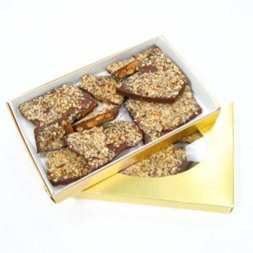 1lb Almond English Toffee Chocolate Gift Box - Chocolate.org