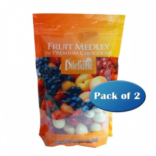 Chocolate Covered Fruit Medley Dragees 24 Oz Pouch PACK Of 2