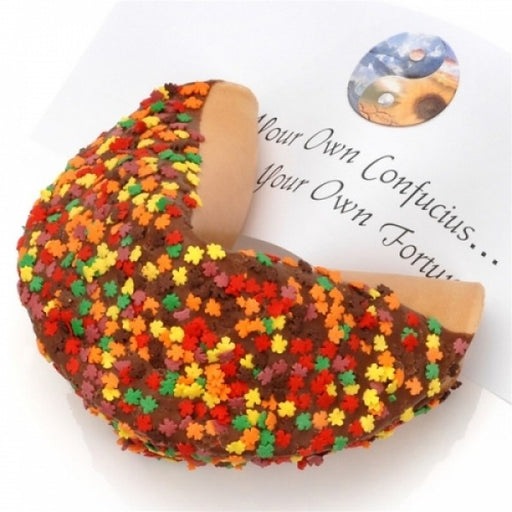 Autumn Leaves Milk Chocolate Giant Fortune Cookie