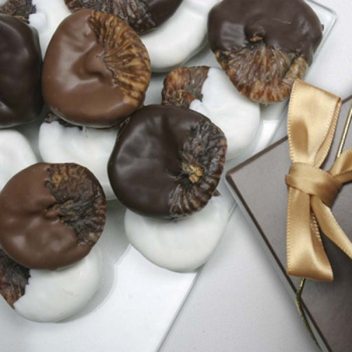 1 Lb Belgian Mixed Chocolate Covered Figs Gift Box