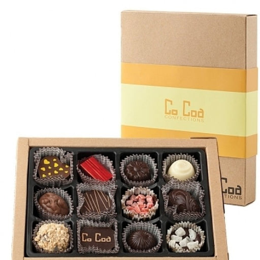 Gemstone Collection Chocolate Gift Box  Yellow