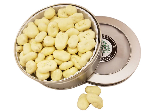 White Chocolate Pecan Gift Tin 16 oz - Chocolate.org