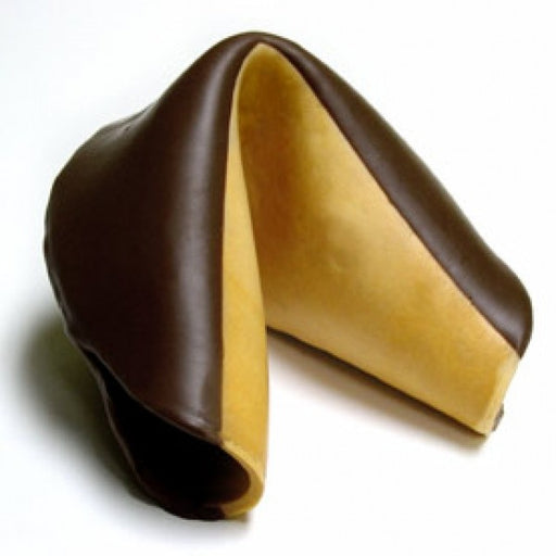 Giant Fortune Cookie Dipped In Dark Chocolate