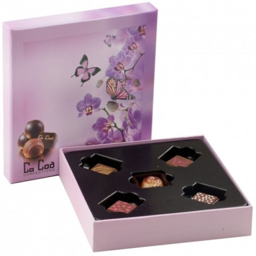 BUTTERFLIES AND BLOOMS CHOCOLATE GIFT BOX