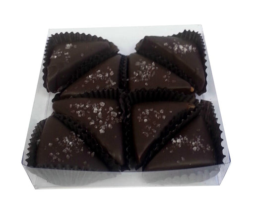 Dark Chocolate Sea Salt Caramels 8pc Box - Chocolate.org