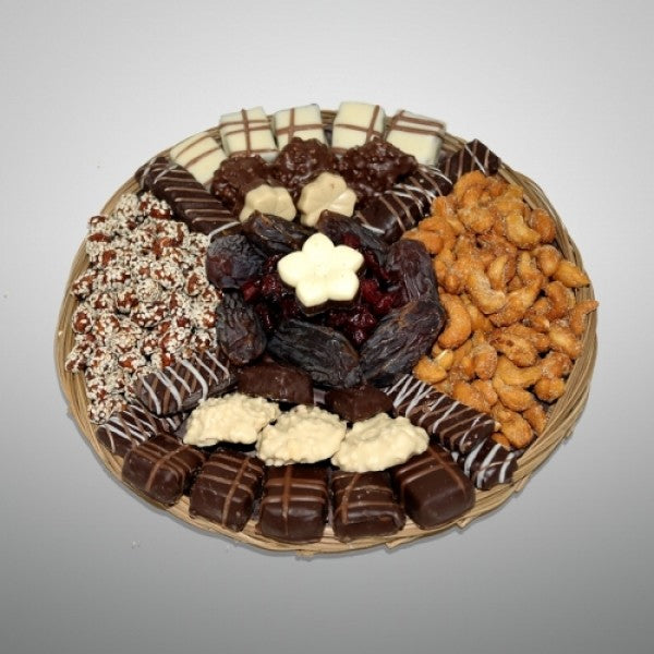 Round Wicker Gift Basket - Chocolate.org