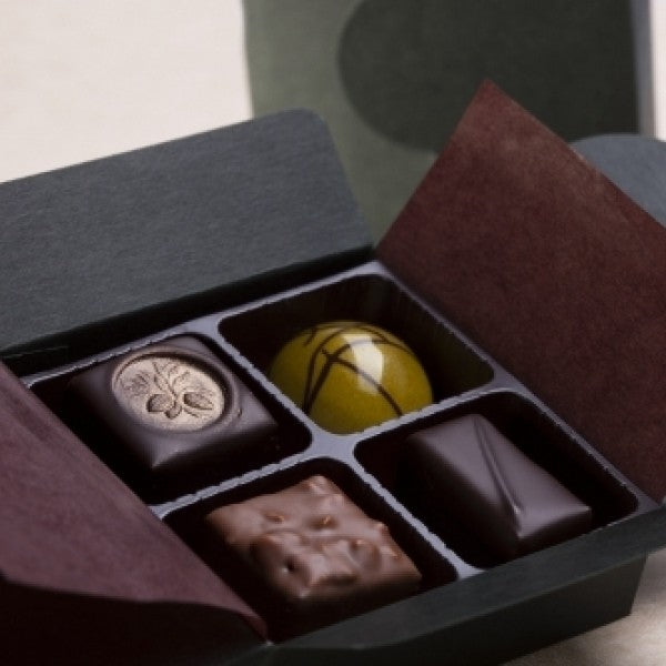 4pc Assorted Chocolate Truffles Box - Chocolate.org