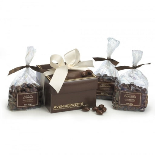Chocolate Covered Nuts Gift Box - Chocolate.org