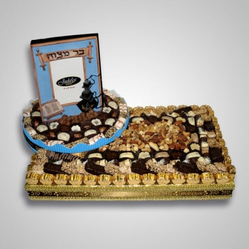 Bar Mitzvah Gift Basket Rich With Chocolates And Nuts