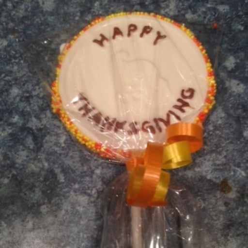 Thanksgiving Lollipop White 6 Pieces