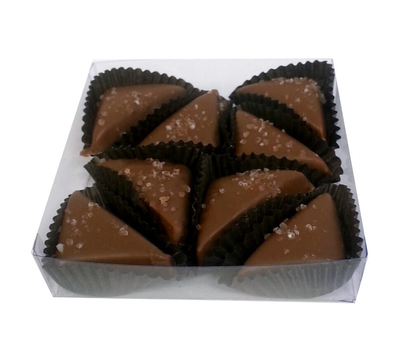 Milk Chocolate Sea Salt Caramels 8pc Box - Chocolate.org