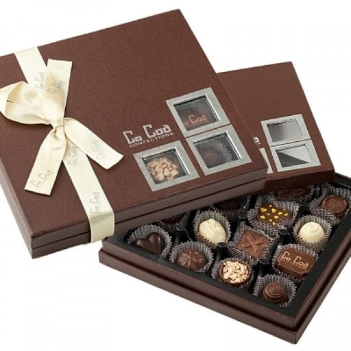 SHOWCASE BROWN MILK CHOCOLATE GIFT BOX - Chocolate.org