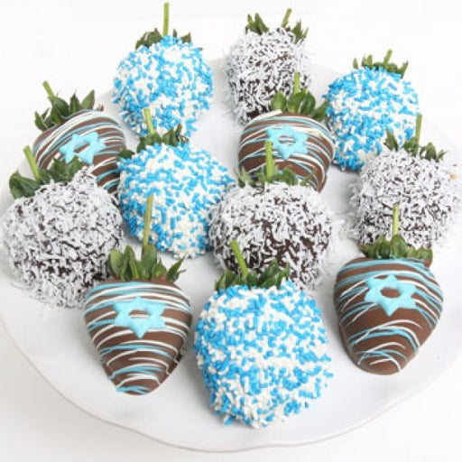 12 Hanukkah Belgian Chocolate Covered Strawberries