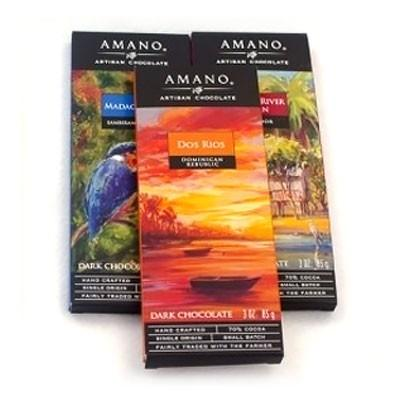 Amano Chocolate Single Origin 3 Pack - Chocolate.org