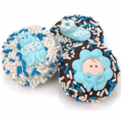 Baby Boy Dipped And Decorated Oreos