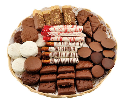 "Large 12"" Tray of Treats Sampler Platter - Chocolate.org"