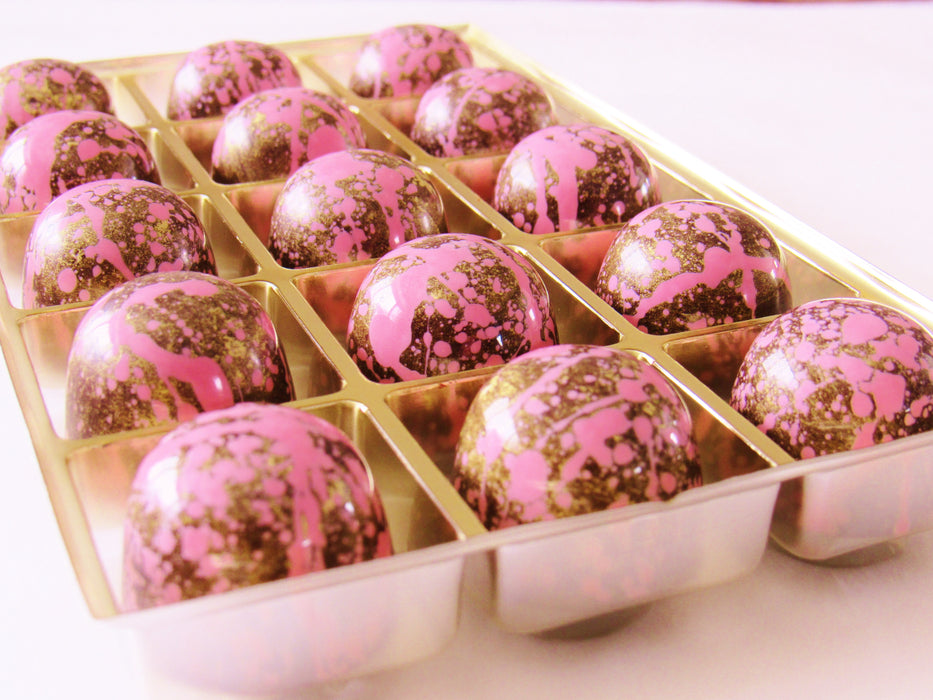 Sparkling Wine Chocolate Truffles/ ALL NATURAL / 15 count - Chocolate.org