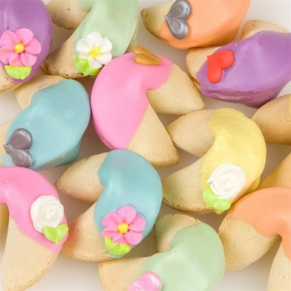 Rainbow Fortune Cookies - Chocolate.org