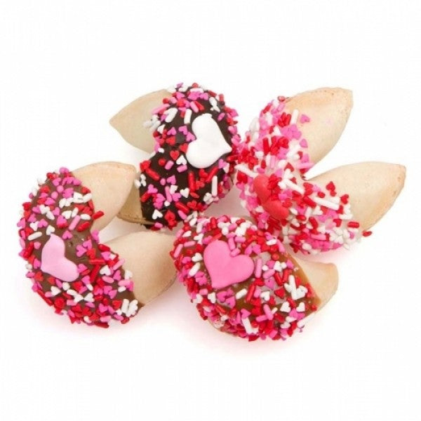 Romantic Hand Dipped And Decorated Gourmet Fortune Cookies - Chocolate.org