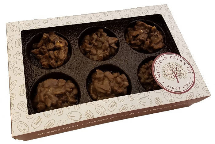 Chocolate Pecan Cluster Gift Box 16 oz- 12 pieces - Chocolate.org
