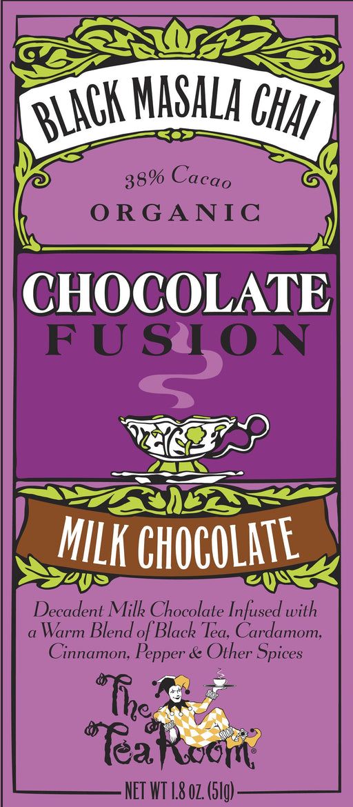 Black Masala Chai, milk chocolate bar - Chocolate.org