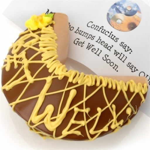 Get Well Milk Chocolate Giant Fortune Cookie