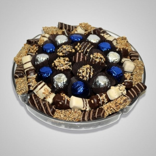 Round Plastic Tray Filled With Chocolates - Chocolate.org