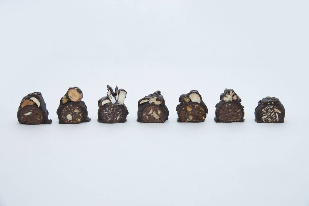 Assortment Of 7 Raw Cacao Sprouted Nut & Seed Truffles