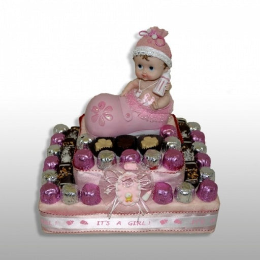 Baby Girl Chocolate Gift Basket