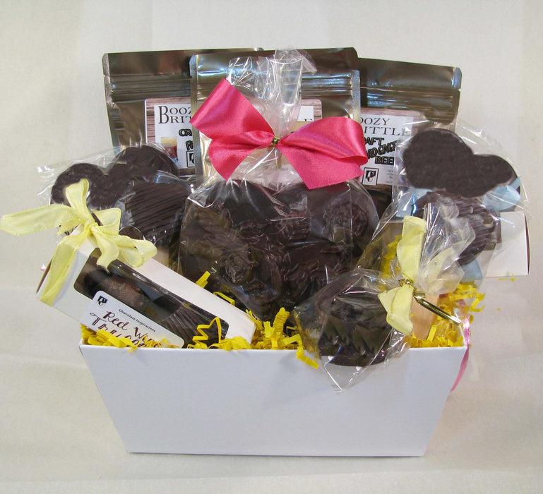 Mom's Boozy Sweets Vegan Dairy Free Mothers Day Gift Basket - Chocolate.org