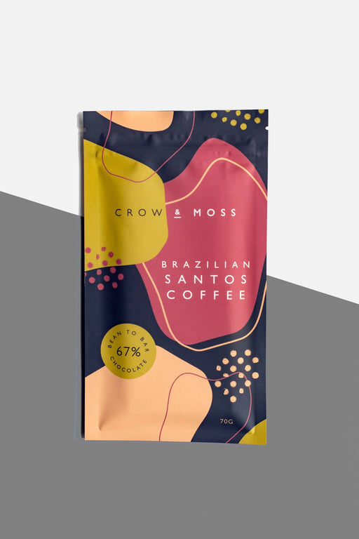 Brazilian Santos Coffee 67% Dark Chocolate Bar - Chocolate.org