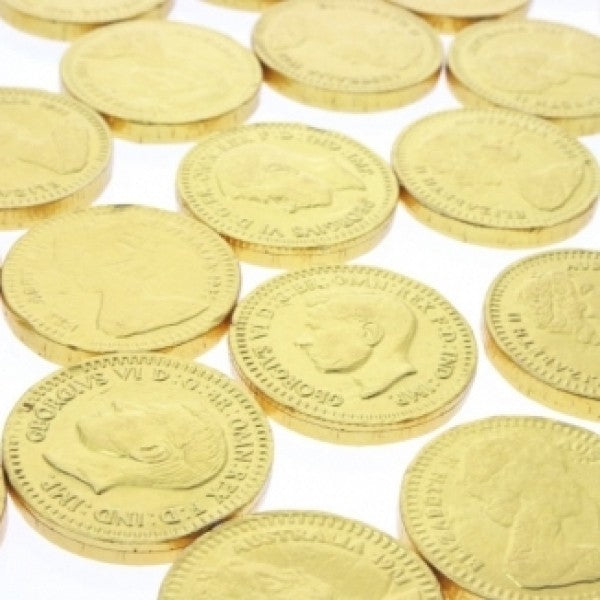 Gold Chocolate Coins 'Pack Of 240' - Chocolate.org