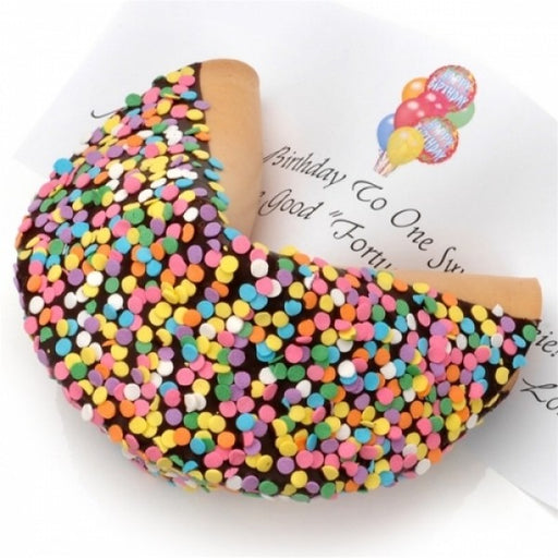 Confetti Dark Chocolate Giant Fortune Cookie