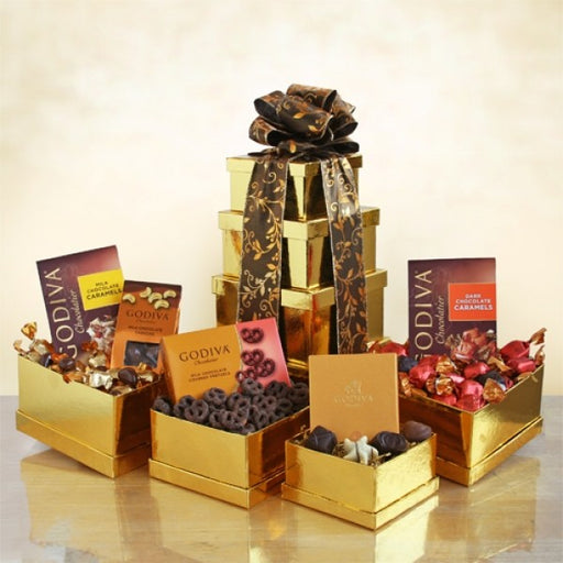 Golden Godiva Tower - Chocolate.org