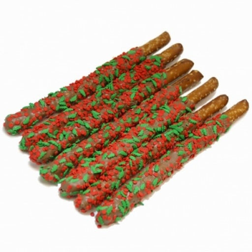 Holly Berry Pretzel Wands - Chocolate.org