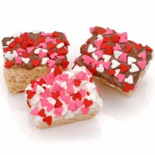 Heart Sprinkles Chocolate Dipped Mini Krispies - Chocolate.org