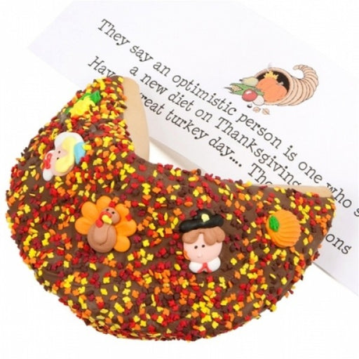 Thanksgiving Milk Chocolate Giant Fortune Cookie