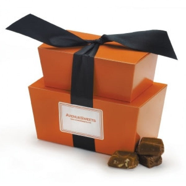Gourmet Caramels In Halloween Gift Tower