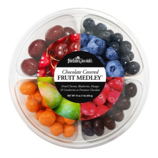 Chocolate Covered Fruit Medley 16 Oz Wheel Assortment