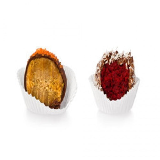 12 Pumpkin Spice And Red Velvet Rolled In Coconut Truffles