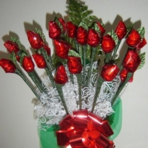 Hershey Chocolate Rosebud Candy Bouquet 2 Dz - Chocolate.org