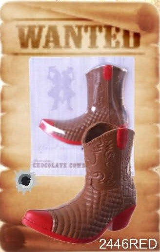 Chocolate Cowboy Boot - Red