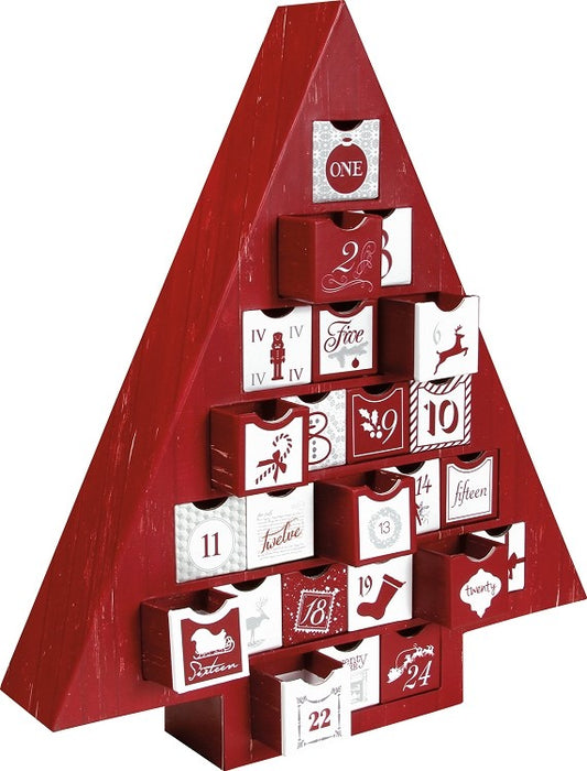 Christmas Calendar Tree Box filled with Foil Truffles for each day - Chocolate.org