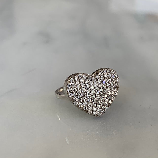 "Sterling silver ""Be my Valentine"" heart rings"