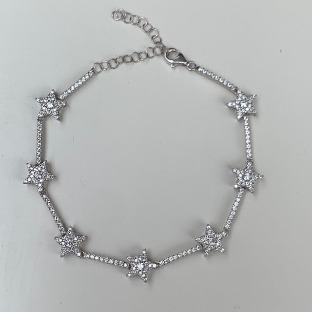 Sterling silver all around star bracelets