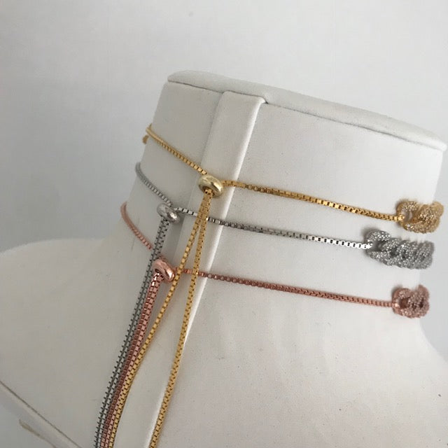 Sterling silver chain link chokers