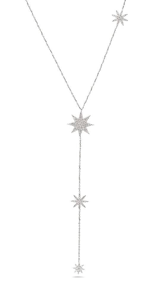 Sterling silver chain link and star chokers and necklace